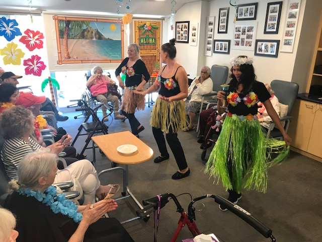 Hawaiian_Day_Mayflower_Staff_Dancing_Aged_Care_Residential_Brighton_Reservoir_Macleod