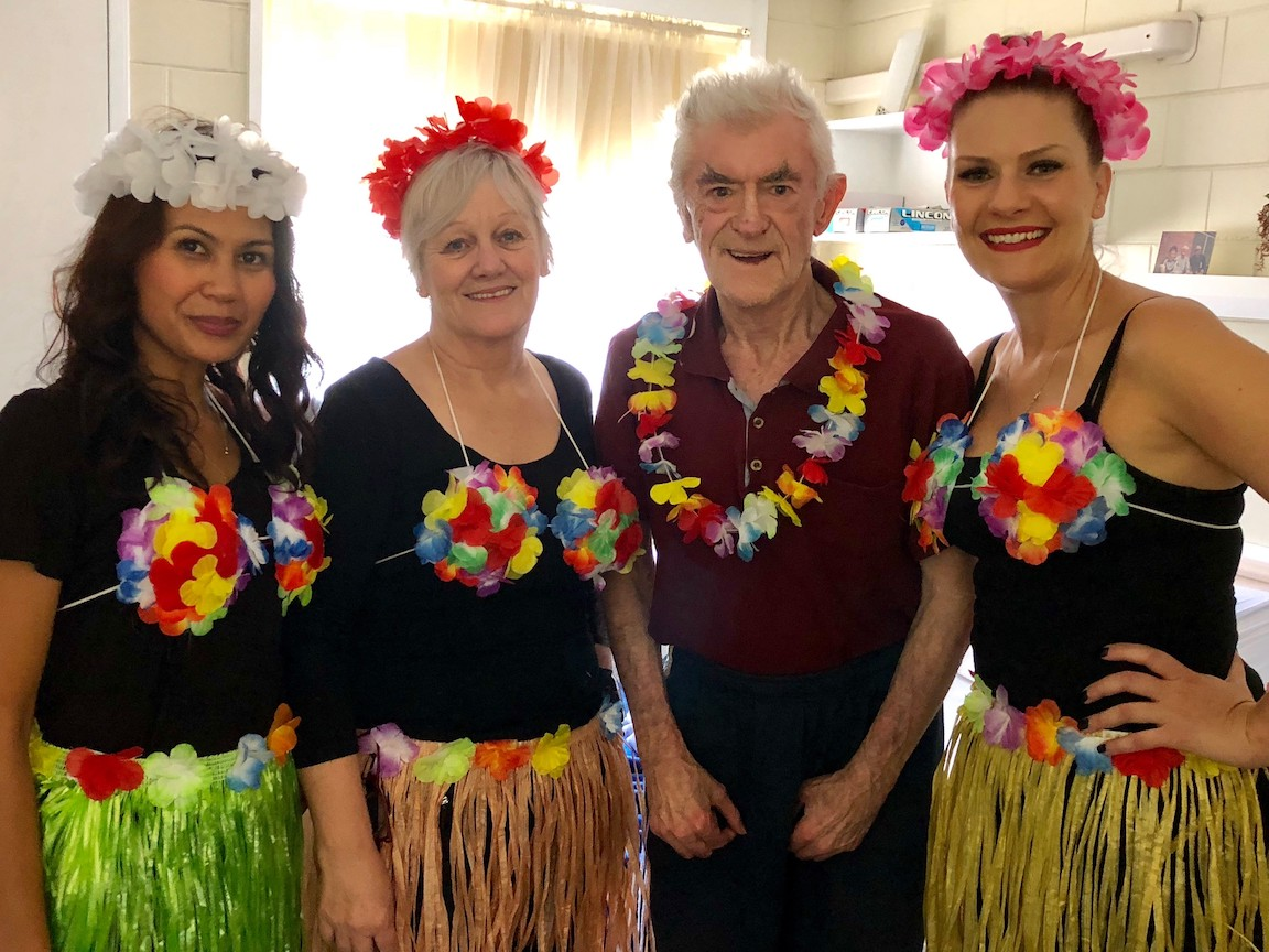 Hawaiian Day Mayflower Staff Donald Campbell Hirst Aged Care Residential Brighton Reservoir Macleod 3